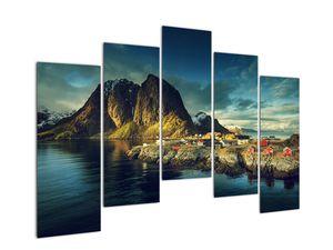 Obraz rybářské vesnice v Norsku (V021280V12590)
