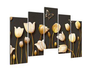 Obraz - Tulipány - abstraktné (V021347V12590)