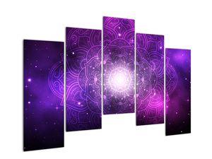 Obraz fialové abstrakce (V022148V12590)
