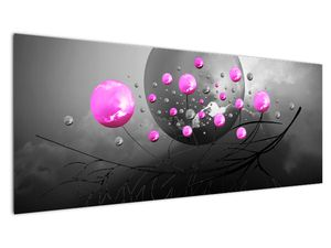 Tablou cu bile roz  (V020105V14558)