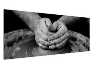 Černobílý obraz - výroba keramiky (V020349V14558)