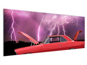 Slika crvenog automobila (V020409V14558)