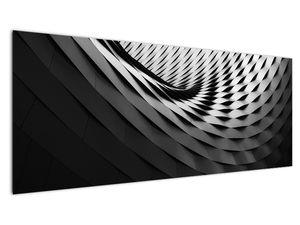 Abstraktní obraz - černobílá spirála (V020667V14558)