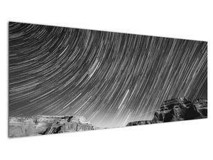 Tablou albnegru cu cerul și stele (V020825V14558)