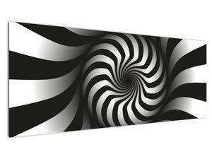 Abstraktní obraz černobílé spirály (V020831V14558)