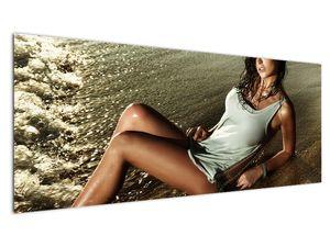 Slika žene na plaži (V020937V14558)