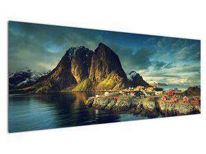 Obraz rybářské vesnice v Norsku (V021280V14558)