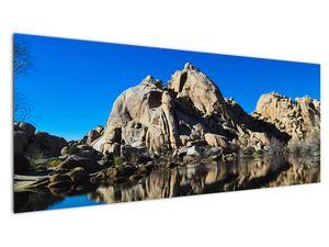 Obraz zrkadlenie skál (V021327V14558)