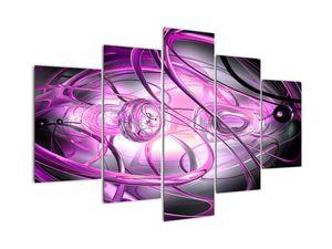 Slika lepe vijoličaste abstrakcije (V020060V150105)