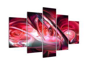 Piros fraktálos kép (V020069V150105)