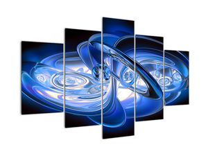 Modra abstraktna slika (V020070V150105)