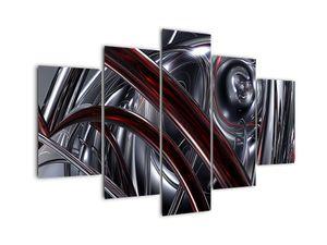 Obraz šedé abstrakce (V020090V150105)