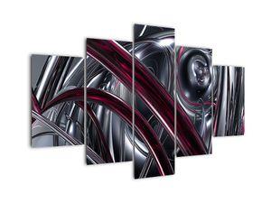 Tablou cu abstracție gri (V020094V150105)