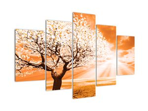 Oranžový obraz stromu (V020095V150105)