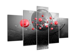 Obraz červených abstraktních koulí (V020098V150105)