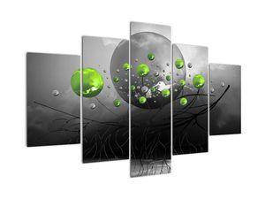 Zöld absztrakt gömbök képe (V020103V150105)