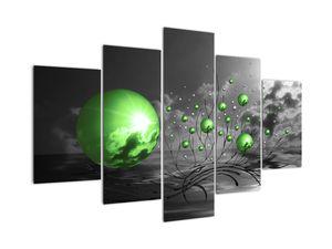 Obraz zelených abstraktních koulí (V020112V150105)