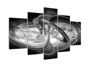 Tablou cu abstracțiune modernă în gri (V020118V150105)