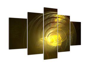 Sárga absztrakt spirál képe (V020124V150105)
