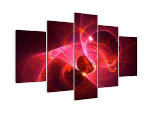 Moderní obraz růžové abstrakce (V020127V150105)