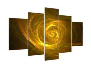 Obraz abstraktní žluté spirály (V020128V150105)