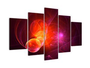 Moderní obraz růžové abstrakce (V020129V150105)