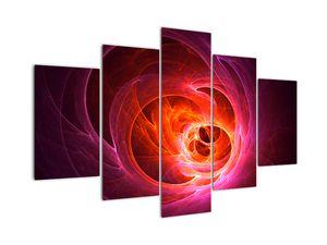 Moderní obraz růžové abstrakce (V020130V150105)