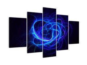 Kék absztrakt gombolyag képe (V020135V150105)