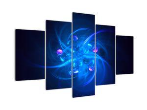 Moderní obraz modré abstrakce (V020137V150105)