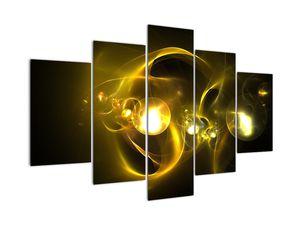 Abstraktní obraz žlutých koulí (V020150V150105)