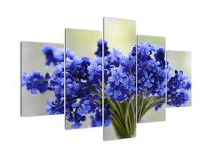 Obraz kytice modrých květů (V020175V150105)
