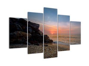 Tablou apusului de soare pe plajă (V020214V150105)