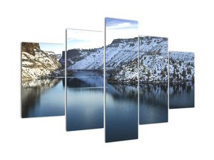 Tablou - peisaj de iarnă cu lac (V020216V150105)