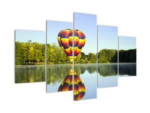 Tablou cu balon cu aer cald pe un lac (V020217V150105)