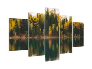 Tablou cu lac de pădure (V020235V150105)