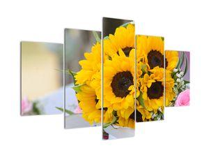 Obraz svatební kytice ze slunečnic (V020261V150105)