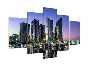 Jachtok és felhőkarcolók képe (V020334V150105)