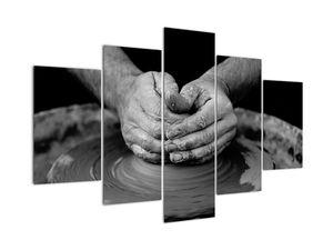 Tablou alb negru - producția de ceramică (V020349V150105)