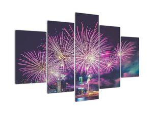 Tablou cuoraș nocturn cu artificii (V020363V150105)