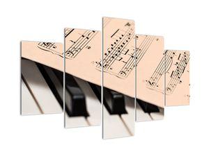 Tablou cu pian și notele muzicale (V020365V150105)