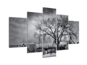 Slika crno-bijelog sela (V020397V150105)