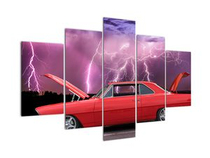 Obraz červeného auta (V020409V150105)