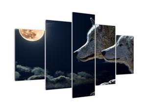 Tablou cu lupi în lună (V020447V150105)