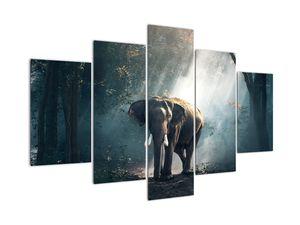 Tablou cu elefant în djunglă (V020490V150105)