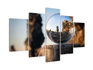 Tablou cu lupa și peisaj (V020536V150105)