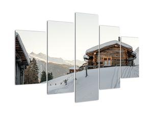 Tablou - cabana montană în zăpadă (V020589V150105)