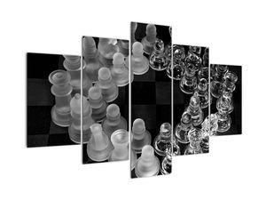 Obraz - čiernobiele šachy (V020598V150105)