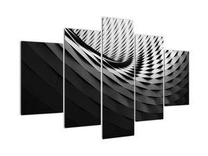 Abstraktní obraz - černobílá spirála (V020667V150105)
