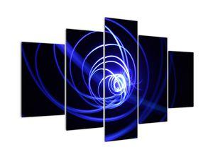 Obraz modrých spirál (V020815V150105)