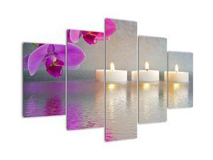 Obraz svíček na vodě (V020817V150105)